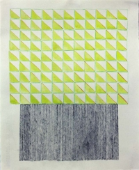 Tom Dalton, Stacks, coloured pencil, graphite, watercolour on paper, 35 x 28 cm, 2013, €350