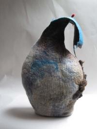 Una Ni She, Eiri Amach ii, wool felt, pin, fibres, 30 x 47 x 14 cm, 2013, SOLD