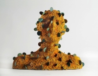 Rachel Parry, Sometimes Feelings Seem Very Real iv, lichen, coins, clay, € 3,120