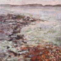 Frances Ryan, Trawnarookan Strand, oil on canvas, 40 x 40 cm, 2004, SOLD