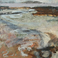 Frances Ryan, Incoming Tide, Belclare, oil on canvas, 40 x 40 cm, 2004, SOLD