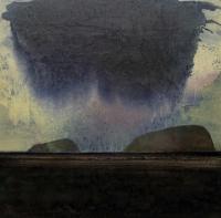 Frances Ryan, Cloudburst, acrylic on canvas, 50 x 50 cm, 2008, SOLD
