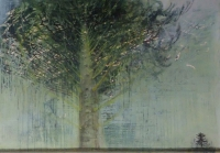 Frances Ryan, Neighbor, 70 x 100, oil and pastel on panel, 2013 SOLD