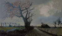 Frances Ryan, November 2, oil and collage on board, 30 x 50 cm, 2010, SOLD