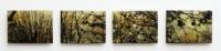 Frances Ryan, Dusk 1 - 4, 13 x 18 cm, oil, collage & resin on panel, 2013, SOLD