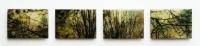 Frances Ryan, Dusk 5 - 8, 13 x 18 cm, oil, collage & resin on panel, 2013, SOLD