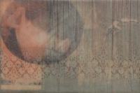 Frances Ryan, Event, 20 x 30 cm, oil and collage on panel, 2013, €690