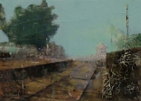 Frances Ryan, Station i, 13 x 18 cm, oil & collage on panel, 2013, €300