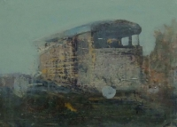 Frances Ryan, Station iv, 13 x 18 cm, oil & collage on panel, 2013, SOLD