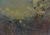 Frances Ryan, Station v, 13 x 18 cm, oil & collage on panel, 2013, €300