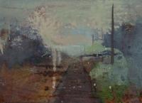 Frances Ryan, Station vii, 13 x 18 cm, oil & collage on panel, 2013, €300