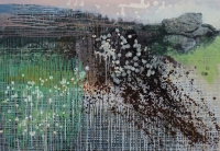 Frances Ryan, The Hungry Rock, 70 x 100 cm, oil & collage on panel, 2013, €2,100