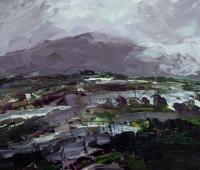 Avril Lyons, Storm Series No. 13, acrylic on panel, 17 x 20 cm, 2013 €775