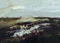 Avril Lyons, Achill Series No. 9, acrylic on panel, 17 x 23 cm, 2013, €800