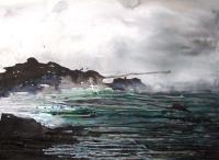 Imelda Kilbane, Seaspray, mixed media on paper, 55.8 x 76.2cm, 2014