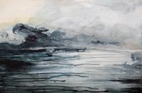 Imelda Kilbane, Deluge, mixed media on paper, 55.8 x 76 cm, 2014