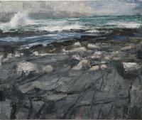 Donald Teskey, Longshore VII, oil on canvas, 100 x 120 cm, 2014, POA