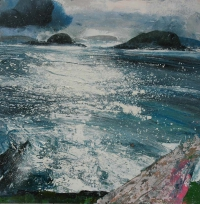 Neal Greig, South towards Deenish & Scarriff, oil on board, 70 x 70 cm, 2014, € 1,600