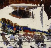 Leonard Sheil, Danube Tributary 1, mixed media on board, 30 x 30 cm, 2007, SOLD