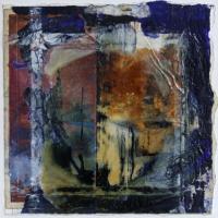 Leonard Sheil, Dead Reckoning, mixed media on canvas, 40 x 40 cm, 2007, SOLD