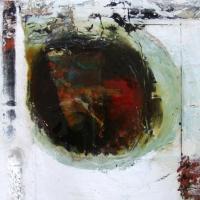 Leonard Sheil, Divided Sea, mixed media on board, 38 x 38 cm, 2007, SOLD