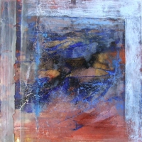 Leonard Sheil, Flotilla, mixed media on board, 40 x 40 cm, 2007, SOLD