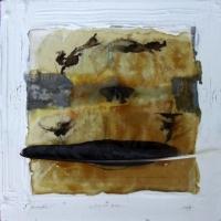 Leonard Sheil, Study for Vessel, mixed media on board, 38 x 38 cm, 2007, SOLD