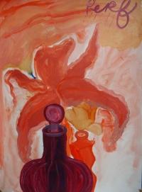 Suzy O'Mullane, Perfume Rain, 76 x 56 cm, oil on paper, 2012, €2,500